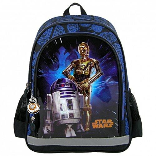 Ergonomischer Star Wars Rucksack Motiv R2 D2 und C 3PO Freizeit Schule Sport Sporttasche