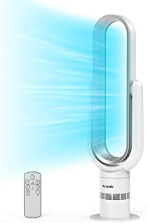 Ventilateur Colonne, Ventilateur Tour Oscillant à 90° avec Télécommande, 10 Vitesses, Minuterie de 9 Heures, Nettoyage Fac...