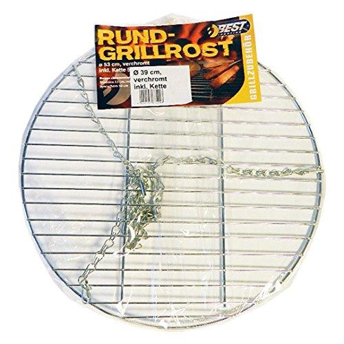 Best Sporting Rond avec chaîne de Barbecue Chromé 39 cm