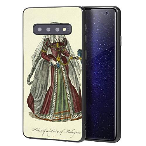Berkin Arts Thomas Jefferys Custodia per Samsung Galaxy S10 Plus/Custodia per Cellulare Art/Stampa giclée UV sulla Cover del Telefono(Habit of A Dama Or Bologna Bolonge)