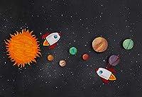 少年、宇宙飛行士、誕生日、誕生日、装飾、写真、背景、写真スタジオ、子供、背景、パーティー、スタジオ、背景、ビニール写真の小道具の写真の背景5x3ft