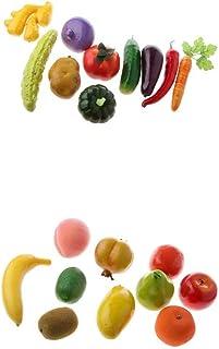 LOVIVER 20 Piezas De Verduras Artificiales Frutas Comida Inicio Tienda Exhibición Fotografía Prop