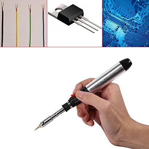 WANGYONGQI 4 in 1 kabelloses Gas-Lötkolben Stift Set Temperatur Lötbrenner Werkzeug Heißluft Löten Station Pistole