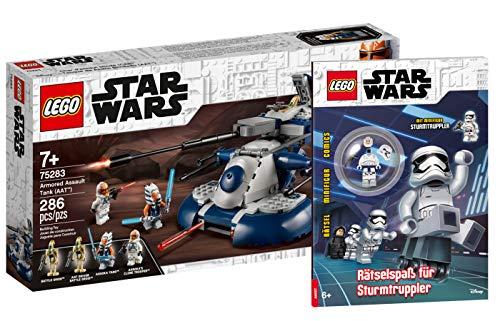 Collectix Lego Star Wars - Set: 75283 Armored Assault Tank (AAT™) + Rätselspaß für Sturmtruppler (Softcover)