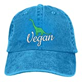 XCNGG Gorra de béisbol de Jeanet de Mezclilla con Dinosaurio Vegano para Hombre/Mujer, Sombrero Ajustable para papá