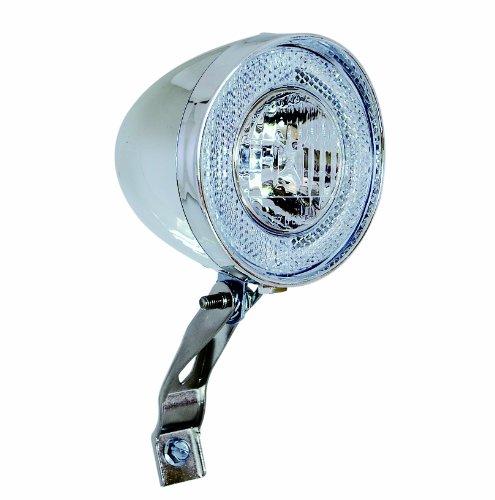 Büchel Traditionsscheinwerfer Chrom 10 Lux ohne Schalter, mit Halter, Silber, 50200