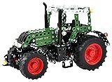 Tronico 10069 - Metallbaukasten Traktor Fendt 313 Vario mit Fernsteuerung, Junior Serie, Maßstab 1:24, 574-teilig, grün
