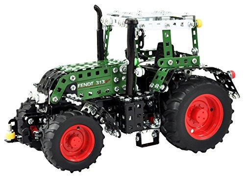 RC Auto kaufen Traktor Bild: Tronico 10069 - Metallbaukasten Traktor Fendt 313 Vario mit Fernsteuerung, Junior Serie, Maßstab 1:24, 574-teilig, grün*