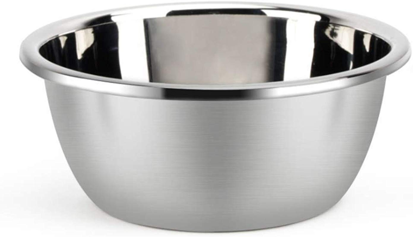 Metal Bowl Stainless Steel Metal Basin Deep Heavy Duty Metal Salad Bowl By Erya 12 6 Diameter X 5 04 H