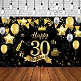50th Birthday Background Banner 50th Birthday Party Decoration Extra Large Black Gold Sign Poster for Anniversary Photo Booth Backdrop Background Banner Birthday Party Supplies