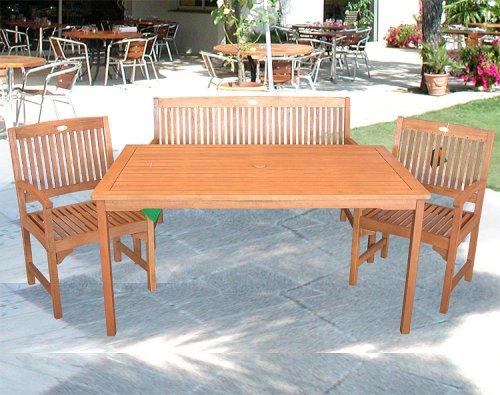 Multistore 2002 4pezzi da giardino in legno Balau