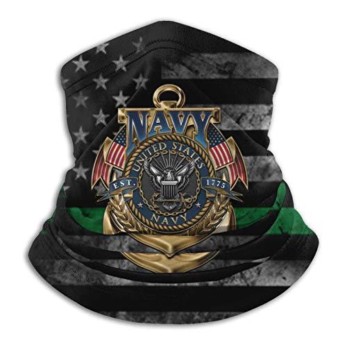 HOCLOCE Magic Neck Gaiter Tube Headband Headwear Scarf Wrap Shields Windproof Bandanas Balaclava for Unisex - United States Navy The Sea Version