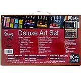 Darice- Set Wooden Valigetta Professionale per Artisti da 80 Pezzi, Multicolore, 36.8x23.1x7.4 cm,...