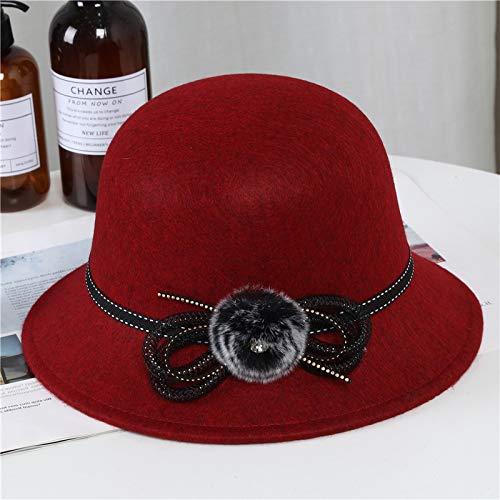 geiqianjiumai haarbalpet van de koude winter van de nieuwe stijl en wijsheid van de Woolen hoeddames warme