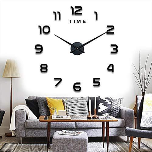 Yolistar Moderno Orologio Da Parete Fai Da Te, 3D Adesivo Orologio Parete Decorazione, Silenzioso Facile da Montare Parete Decorazione per Casa, Ufficio, Hotel