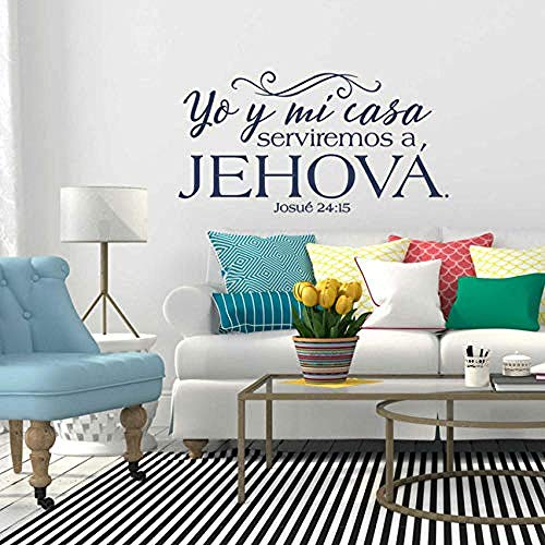 Adhesivo de pared Josué 24:15 Vinilo Pegatinas de pared Versículos d