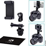 CamKix Hot Shoe Mount Adapter Kit Compatible with Phone, Action Cam to The Flash Mount of Your DSLR Camera - Record Your Photo Shoot or use Phone Apps for Lighting