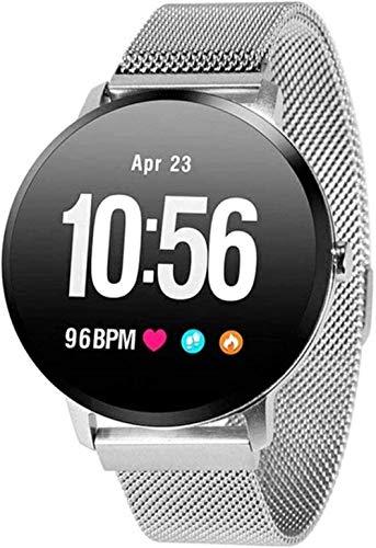 Reloj Inteligente 1 3 pulgadas pantalla Fitness Tracker deportes podómetro pulsera personalizado Dial Mensaje Push Recordatorio inteligente IP67 impermeable 110mAh-plata/acero