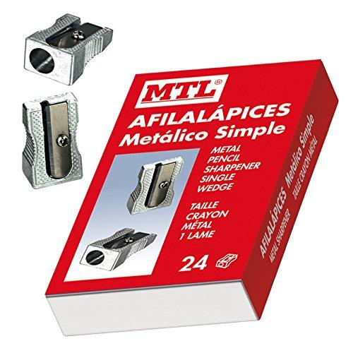MTL 79565 - Caja afilalápices de aluminio, 24 unidades