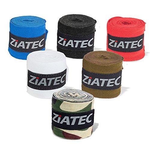 Ziatec Profi Boxbandagen [3m/4,5m] in 2er und 4er Sets viele Farben, Handgelenkbandage für Boxen, MMA, Muay-Thai und weitere Kampfsportarten, Größe:2 Paar, Farbe:schwarz