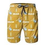 Samthune SS Lazio 3D Calzoncini da Bagno Costume da Bagno Uomo Calzoncini da Bagno Pantaloncini da Surfe Costume da Bagno per Spiaggia Vacanza M-XXL