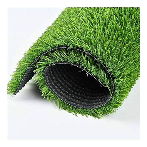 GFSD Kunstrasenrasen, Kunstrasen for Hunde Pee Pads Mit Abflusslöchern, Leicht Zu Reinigen, (Color : Green 20mm, Size : 2x10m)