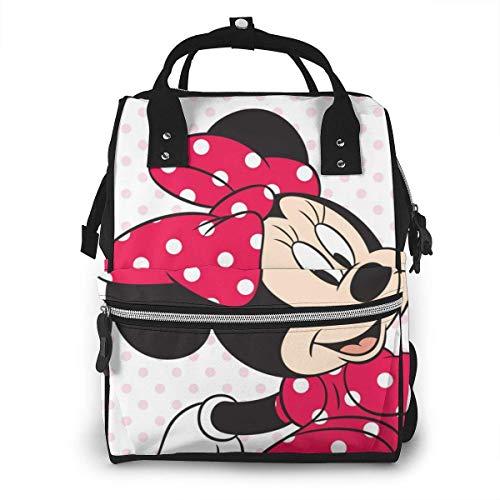 Wickeltasche Rucksack - Küsse Minnie Mouse Multifunktions wasserdichter Reiserucksack Mutterschaft Baby Windel Wickeltaschen