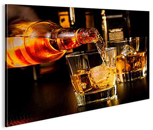 islandburner Bild Bilder auf Leinwand Bar Drinks Bartender Whiskey 1p XXL Poster Leinwandbild Wandbild Dekoartikel Wohnzimmer Marke