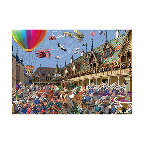 Piatnik Ruyer Wine Auction in Beaune Jigsaw Puzzle (1000 Pieces)
