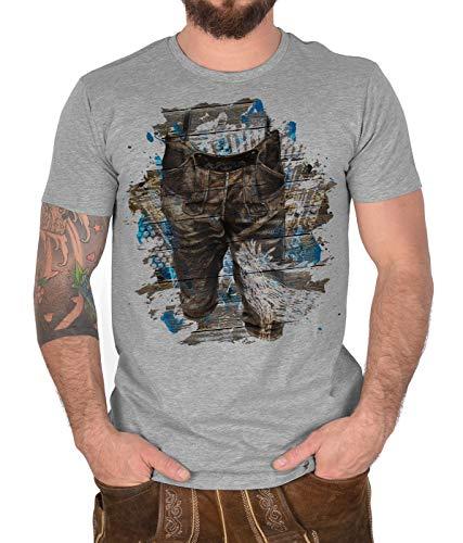 Trachten T-Shirt Lederhosen Steirische Cooles Motiv zur Lederhosn Trachtenshirt Herren Shirt Trachten Hemd