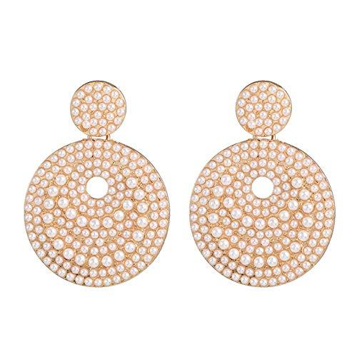 Vvff Declaración Pendientes De Perlas Simuladas Pendientes Colgantes Para Pendientes De Fiesta Para Mujeres