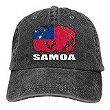 Drapeau du Samoa Football Rugby Hommes Femmes Casquettes de Baseball Réglables Denim FA BRIC Casquette Hip-hop