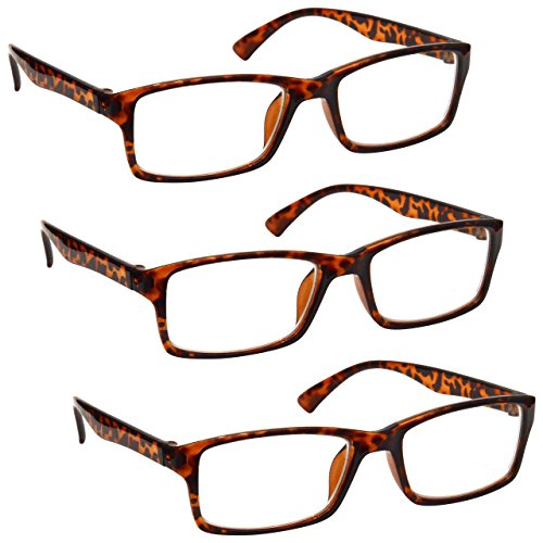 The Reading Glasses Company Brown Tortoiseshell Readers Value 3 Pack Mens...