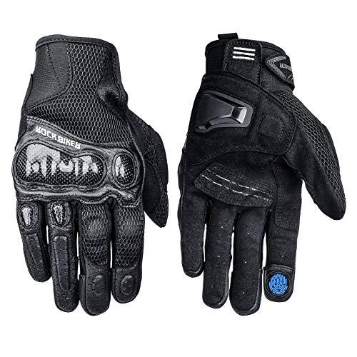 LEXIN Motorrad Handschuhe, Herren Rollerfahrer Handschuhe, Touchscreen Sport Handschuhe für Schlitten, Ski, Motorcross, Fahrrad, Mountainbike, Paintball und Mountainbike XL