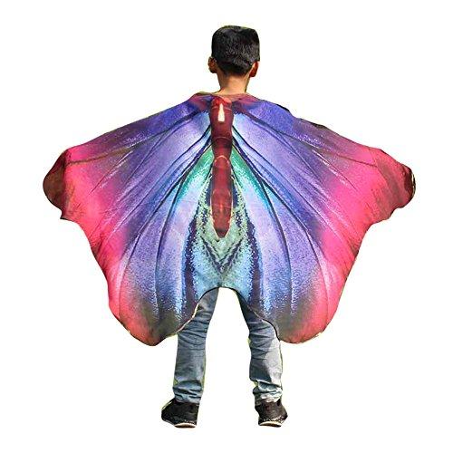 MRULIC MRULIC Kinder Dance Fairy Bauchtanz Schmetterling Flügel Isis Wings mit Stöcken oder elastische Fingerringe