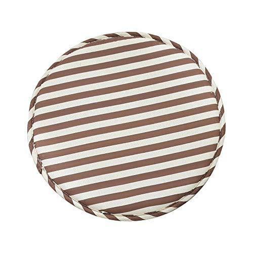 Jroyseter 4 Pezzi Cuscini per Sgabelli da Bar Rotondi Antiscivolo Cuscini per Sedie da Pranzo Cuscini da Cucina per Uso Domestico Set di Cuscini per Sedie Sgabello Alto con Lacci (Brown)