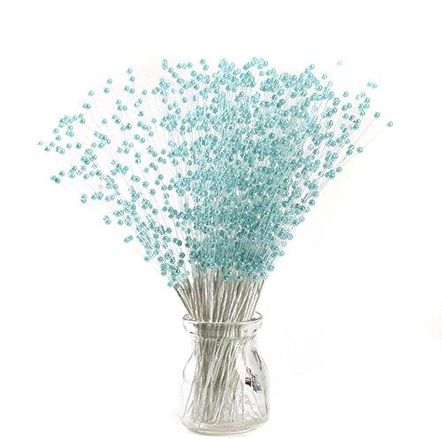 Ssowun 100pcs Branches de Perles Bouquet,Fletion Mariage Décoration Bouquet des Fleurs Artificielles Décor Vase Décorations Cérémonie de Mariage Accessoires de Mariée