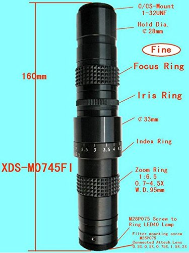 Gowe Neue Maschine Vision Objektive C-Mount-Mini Monokular TV Mikroskop mit Iris Ring mit 0,5C Objektiv