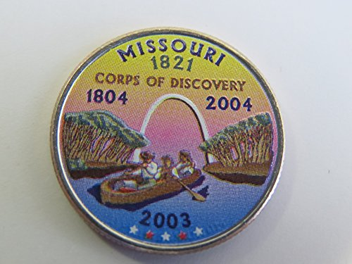 2003 Various Mint Marks Missouri State Colorized Quarter Choice Uncirculated