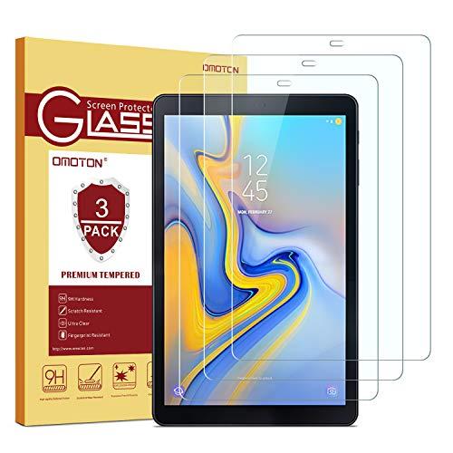 OMOTON [3 Stück] Panzerglasfolie für Samsung Galaxy Tab A 10.5 SM-T590/T595,9H Festigkeit, Anti-Kratzer, Anti-Öl, Anti-Bläschen