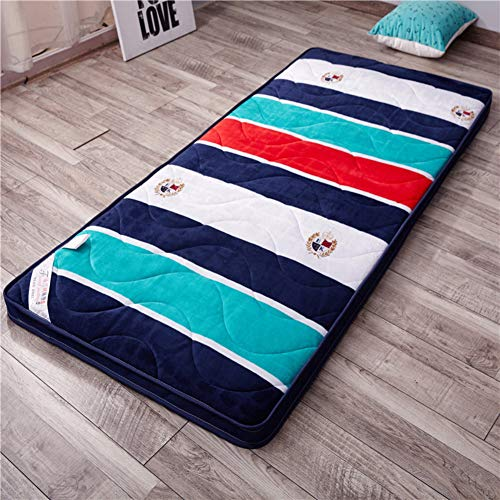 GHKSDLJFGDF Premium Tatami Mattress Pad, Sleeping Japanese Bed Roll Futon Floor Mat Quilted Fitted Mattress For Student Dormitory Kid -c Full