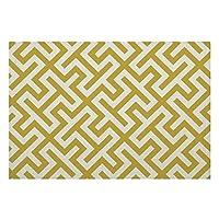 リネンPlaceMatsセット4、モダンシックなゴールドとホワイトの幾何学的な滑り止めプレースマットダイニングキッチンレストランテーブル農家結婚式屋外屋内