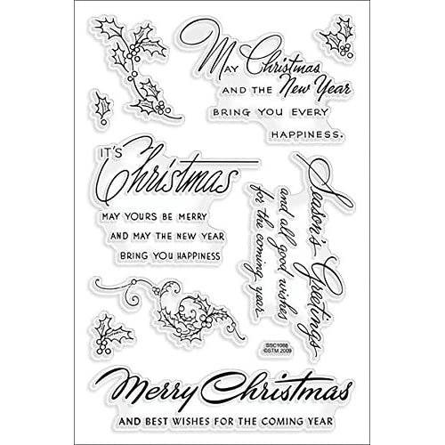 Christmas Sentiments For Cards.Christmas Sentiments Stamps Amazon Com
