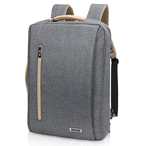 Lifewit Zaino Porta PC con Caricatore USB a 3-in-1 Borsa Messenger 15.6 Pollici