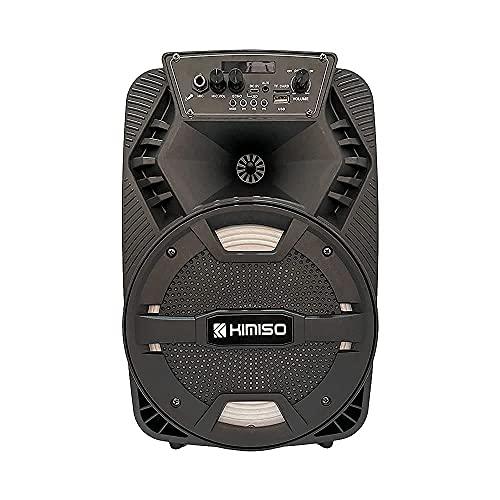 Altavoz Bluetooth Grande de Inalámbrico con Karaoke 8' 12 Watt |Sintonizador Radio FM, Batería Interna de 1800mah, Potente Altavoz Y Puerto USB