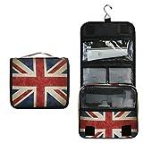 Alarge - Neceser para colgar, diseño vintage de la bandera británica