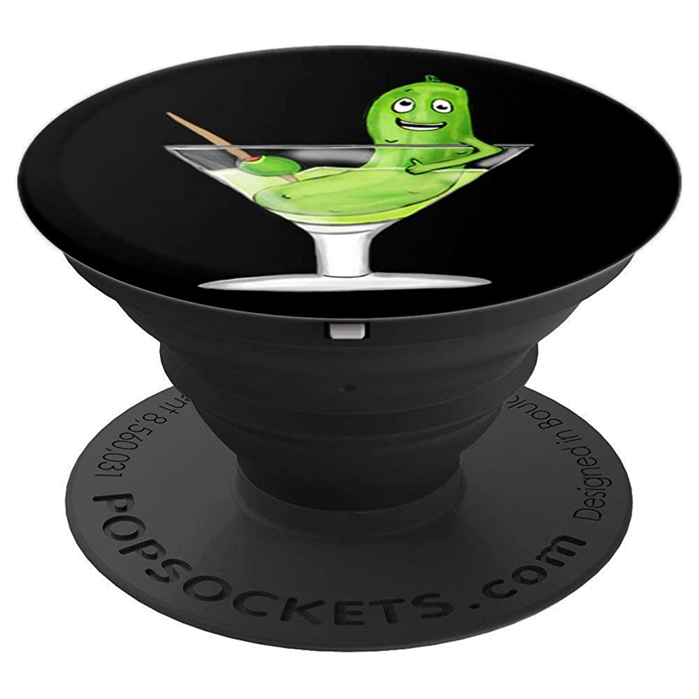 Funny Dill Pickle Olive Martini Drinking Gift Men Women - PopSockets Grip and Stand for Phones and Tablets
