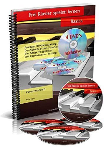 Frei Klavier spielen lernen - Basics [4 DVDs]