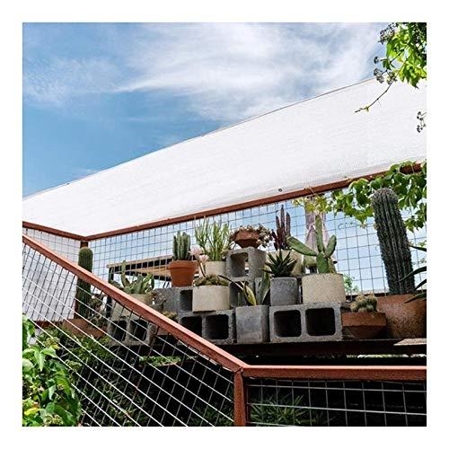 Wasserdichtes Sonnensegel Sonnenschutz, Rechteck Wasserdichter Garten Patio Sun Shade Sail Canopy Robustes Stoffgewebe (Color : White, Size : 3x4m)
