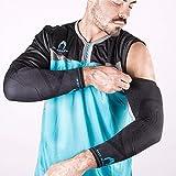 HO Soccer Protek Arm Manguitos Técnicos Antiabrasión para Portero, Unisex Adulto, Negro, XL